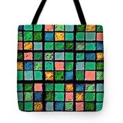 Turquoise Sudoku Tote Bag