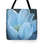Turquoise Waterlily Tote Bag