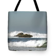 Turquoise Waves Monterey Bay Coastline Tote Bag