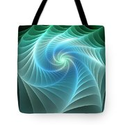 Turquoise Web Tote Bag