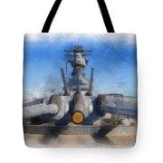 Turrets 1 And 2 Uss Iowa Battleship Photo Art 01 Tote Bag