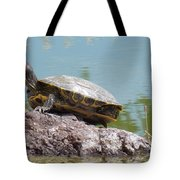 Turtle At The Lake Tote Bag