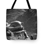Turtle Bw Tote Bag by Nelson Watkins