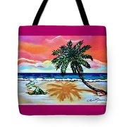Turtle On Beach Tote Bag