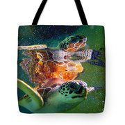 Turtle Reflection Tote Bag