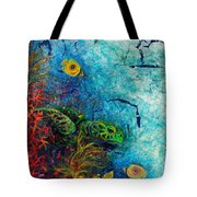 Turtle Wall 1 Tote Bag by Ashley Kujan