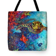 Turtle Wall 2 Tote Bag by Ashley Kujan