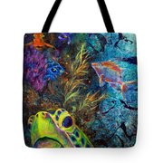 Turtle Wall 3 Tote Bag by Ashley Kujan