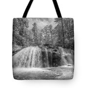Turtletown Creek In Black And White Tote Bag