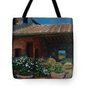 Tuscan Flower Pots Tote Bag