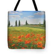 Tuscan Poppies-b Tote Bag