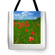 Tuscan Poppies Poster Tote Bag