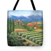 Tuscan Vineyard And Village  Tote Bag