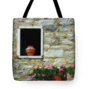 Tuscan Window And Flower Pot Tote Bag