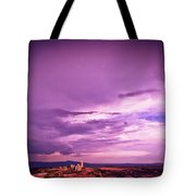 Tuscania Village With Approaching Storm  Italy Tote Bag