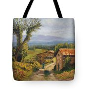 Tuscany Farm Road Tote Bag