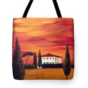 Tuscany In Red Tote Bag