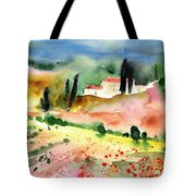 Tuscany Landscape 02 Tote Bag by Miki De Goodaboom