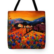 Tuscany Poppies Tote Bag