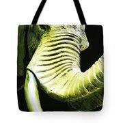 Tusk 1 - Dramatic Elephant Head Shot Art Tote Bag by Sharon Cummings