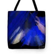 Tutu Stage Left Blue Abstract Tote Bag