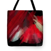 Tutu Stage Left Red Abstract Tote Bag