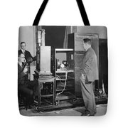 Tv Demonstration At Bell Labs Tote Bag