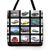Twenty Corvettes Tote Bag