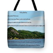 Twenty Third Psalm And Mountains Tote Bag