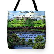 Twenty-third Psalm And Twin Ponds Tote Bag