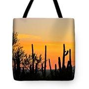 Twilight After Sunset Sonoran Desert Tote Bag