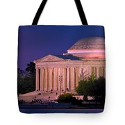 Twilight At The Jefferson Memorial Tote Bag