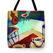 Twilight Coffee Cafe Tote Bag