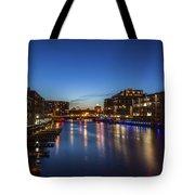 Twilight Docks Tote Bag