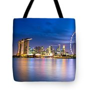Twilight In Singapore Tote Bag by Ulrich Schade