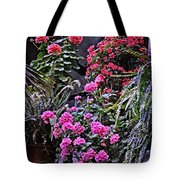 Twilight In The Courtyard Tote Bag
