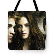 Twilight  Kristen Stewart And Robert Pattinson Artwork 1 Tote Bag
