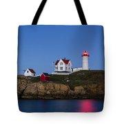 Twilight Nubble Lighthouse Tote Bag