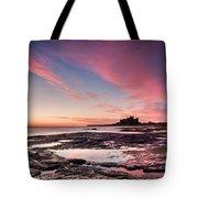 Twilight On Harkness Rocks Bamburgh Tote Bag