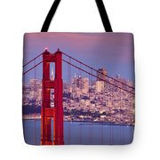 Twilight Over San Francisco Tote Bag