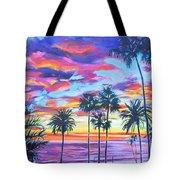 Twilight Palms Tote Bag