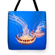 Twin Dancers - Large Colorful Jellyfish Atlantic Sea Nettle Chrysaora Quinquecirrha  Tote Bag