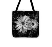 Twin Flowers And A Branch  Tote Bag