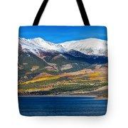 Twin Lakes Colorado Autumn Panorama Tote Bag