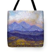 Twin Peaks Above The Fruited Plain Tote Bag