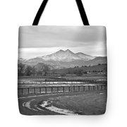 Twin Peaks Mt Meeker And Longs Peak Bw Country Tote Bag
