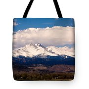Twin Peaks Snow Covered Tote Bag