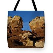 Twin Rocks Capitol Reef National Park Utah Tote Bag