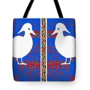 Twin Souls Love Birds Snow White Color Tote Bag