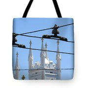 Twin Spires And Trolley Lines Tote Bag